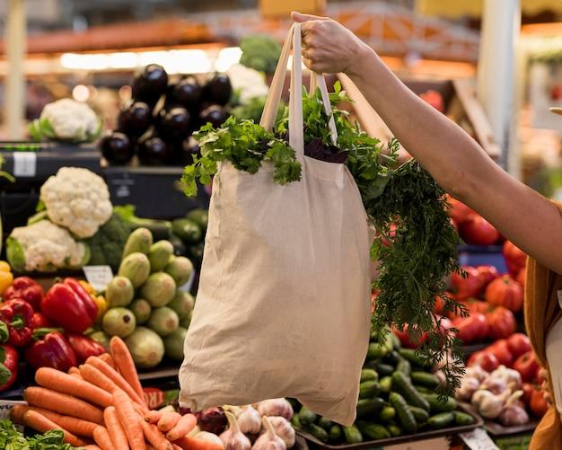 Torba Zdrowych Warzyw Premium Zdjęcia