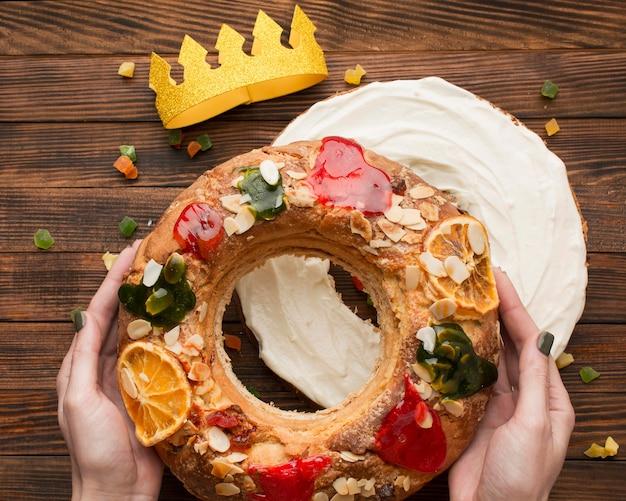 Tort Objawienia Pańskiego Roscon De Reyes I Crown Darmowe Zdjęcia