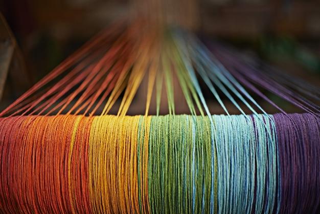 Tradycyjna Kultura Nepalu W Kolorze Tęczy Premium Zdjęcia