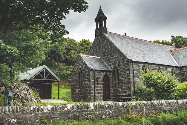 Tradycyjny Irlandzki Dom Murowany. Irlandia Północna. Premium Zdjęcia