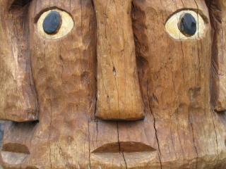 Tribal Rzeźba W Drewnie Darmowe Zdjęcia