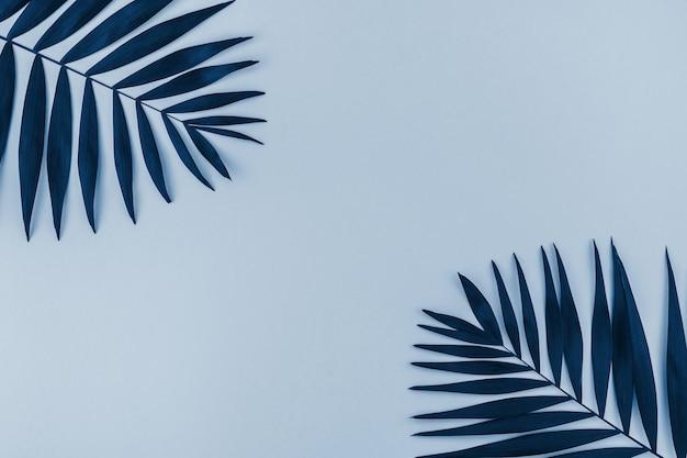 Tropikalna Palma Opuszcza Tła Błękit Tonować Premium Zdjęcia