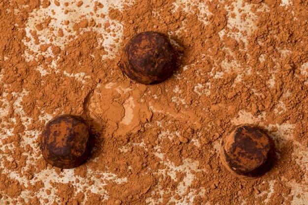 Trufla Czekoladowa W Proszku Kakaowym Darmowe Zdjęcia