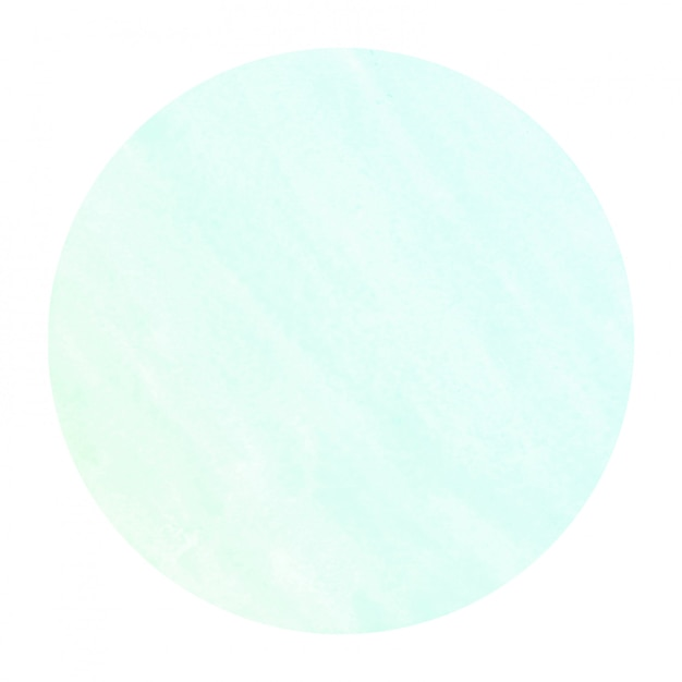 Turkusowa Ręcznie Rysowane Akwarela Okrągłe Ramki Tekstura Tło Z Plamami Premium Zdjęcia