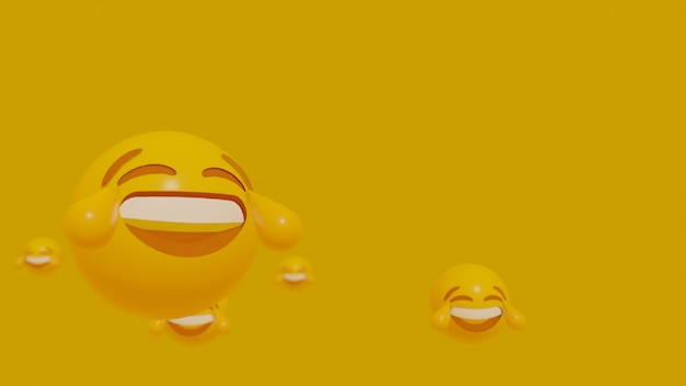 Twarz emoji ruchu 3d Premium Zdjęcia