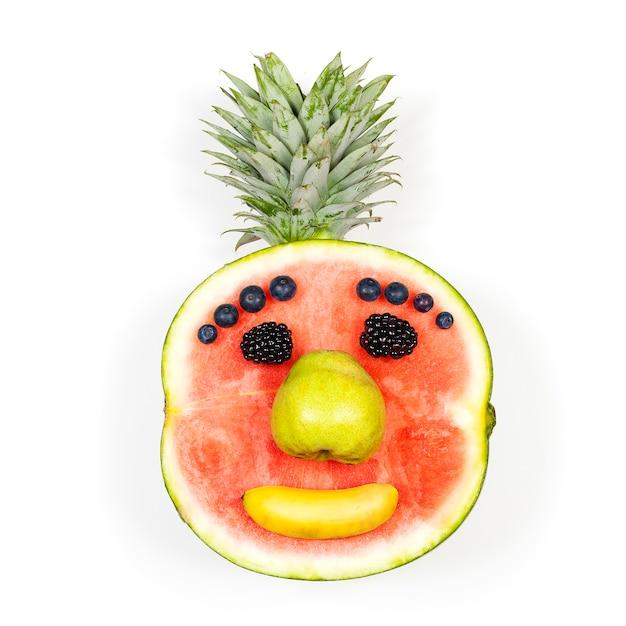 Twarz śmieszne Owoce Na Białym Tle Nad Białym Tle Darmowe Zdjęcia