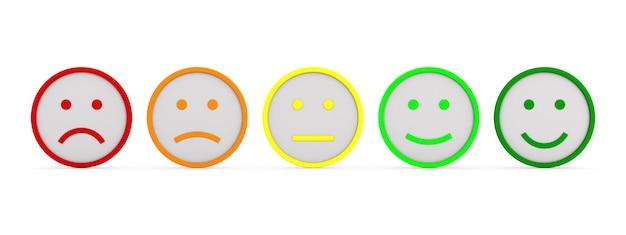 Uczucia I Emocje Na Białym Tle. Ilustracja Na Białym Tle 3d Premium Zdjęcia