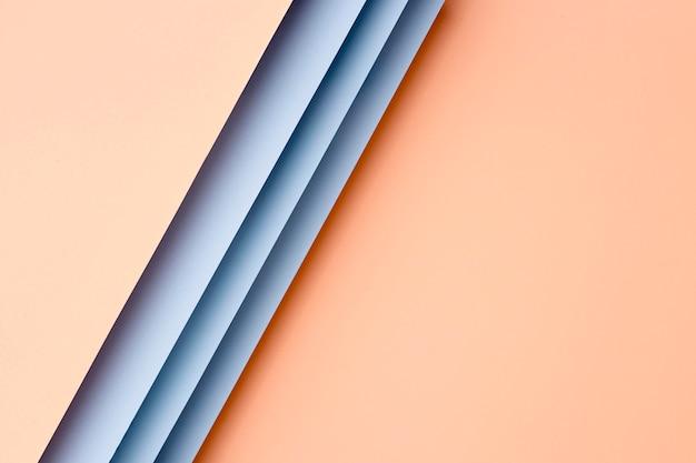 Układ Brzoskwiniowo-niebieskie Papiery Premium Zdjęcia