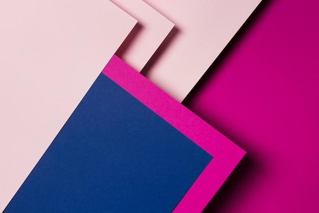 Układ Kolorowych Arkuszy Papieru W Widoku Z Góry Premium Zdjęcia