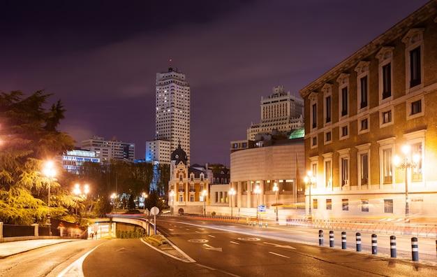 Ulica Bailen I Plac Hiszpański W Nocy Darmowe Zdjęcia