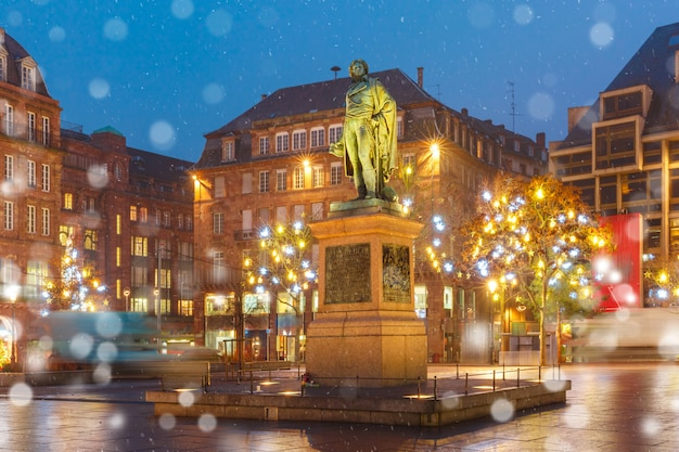 Umieść Kleber W Strasburgu, Alzacji, Francja Premium Zdjęcia