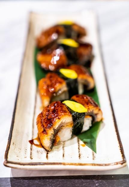 Unagi (węgorz) Sushi Premium Zdjęcia