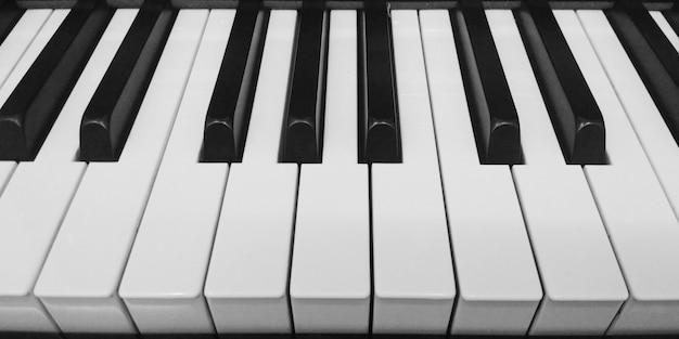 Uroczysty Fortepianowej Klawiatury Tła Zakończenie Up Premium Zdjęcia