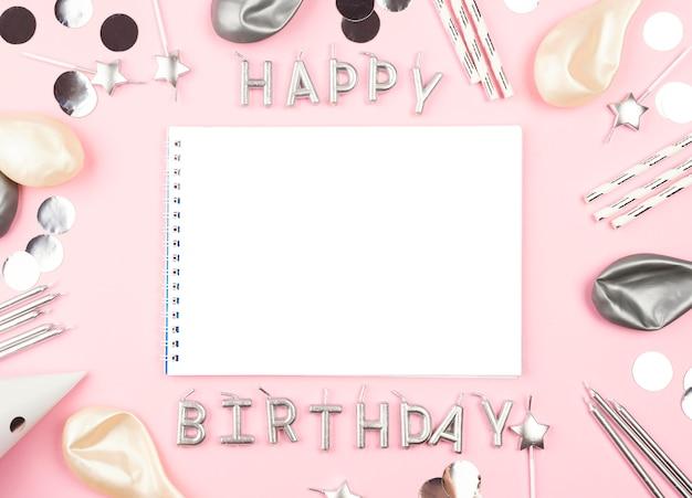 Urodziny Elementy Z Różowym Tłem Darmowe Zdjęcia