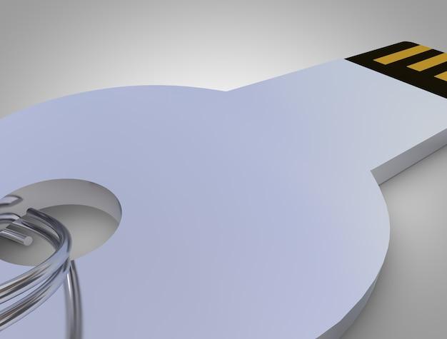 Usb Klucz Danych Izolowany Obiekt Makiety Premium Zdjęcia