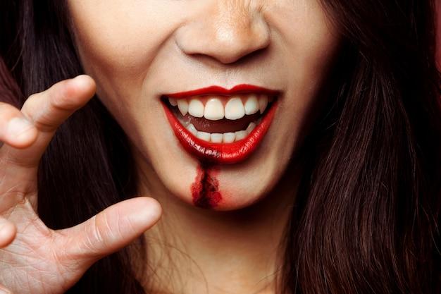 Usta dziewczyny z makijażem zombie Darmowe Zdjęcia