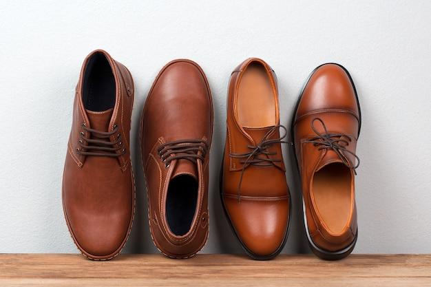 Vintage Fashion Leather Men Shoes Luxury Design. Premium Zdjęcia