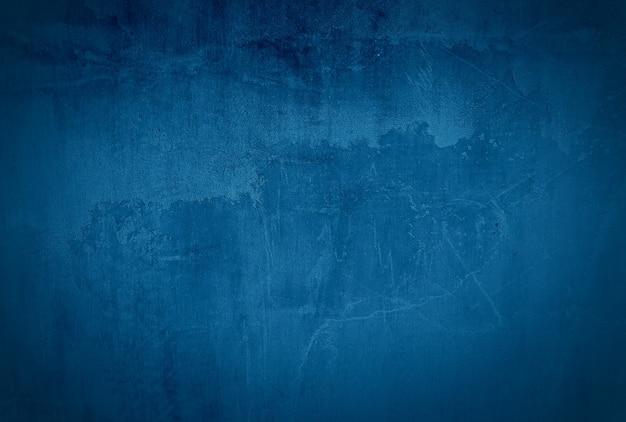 Vintage Grunge Niebieski Beton Tekstura Tło ściany Z Winiety. Darmowe Zdjęcia