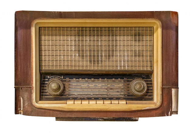 Vintage odbiornik radiowy Premium Zdjęcia