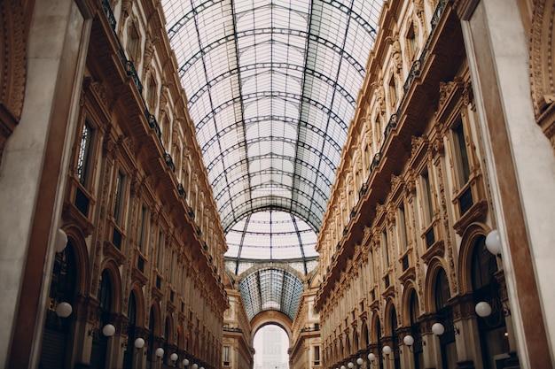 Vittorio Emanuele Ii Gallery, Mediolan, Włochy Premium Zdjęcia