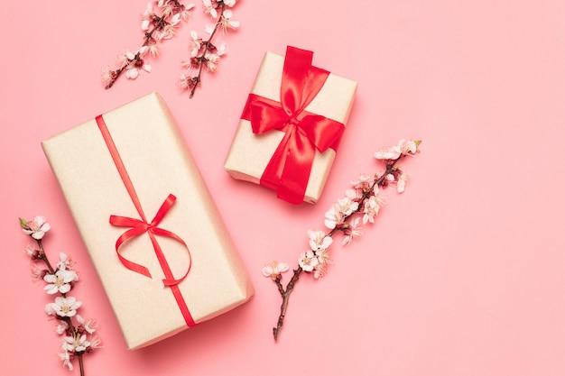 Walentynki, dzień matki, koncepcja dzień kobiet Premium Zdjęcia