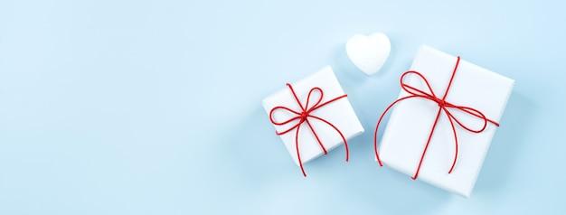 Walentynki Pozdrowienie Ręcznie Pakowane Pudełko Premium Zdjęcia