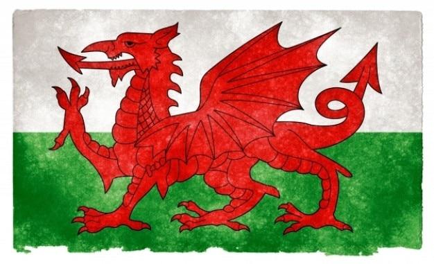 Wales Grunge Flag Darmowe Zdjęcia