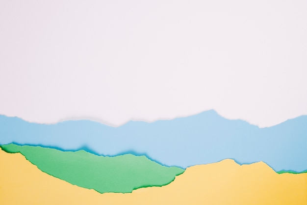Warstwowe papiery na białym tle Darmowe Zdjęcia