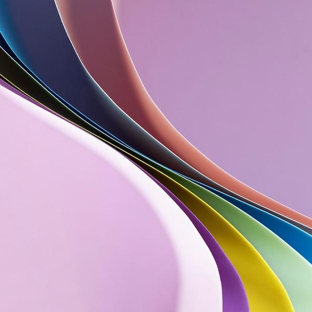 Warstwy Zakrzywionych Kolorowych Papierów Darmowe Zdjęcia