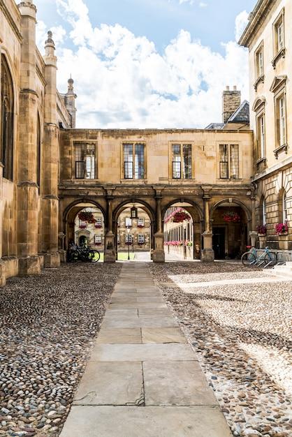 Wejście Do Peterhouse, Kolegium Uniwersytetu Cambridge Premium Zdjęcia