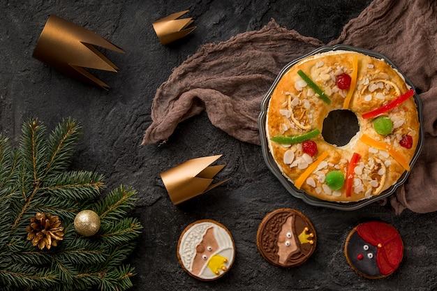 Wesołego Trzech Króli Smaczne Ciasto Na Płótnie Darmowe Zdjęcia