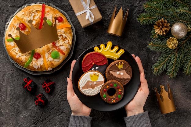 Wesołego Trzech Króli Smaczne Jedzenie Darmowe Zdjęcia