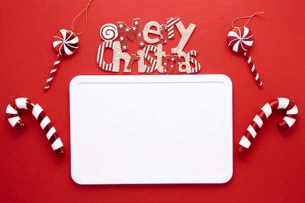 Wesołych świąt bożego narodzenia koncepcja z laski cukierki Darmowe Zdjęcia