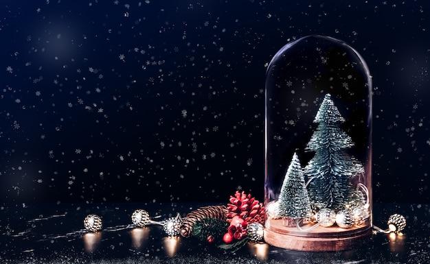 Wesołych świąt Z Jemioły I Ikona Prezent Z Drzewa Xmas Premium Zdjęcia
