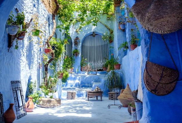 Wewnętrzny Tradycyjny Jardu Wnętrze W Maroko Premium Zdjęcia