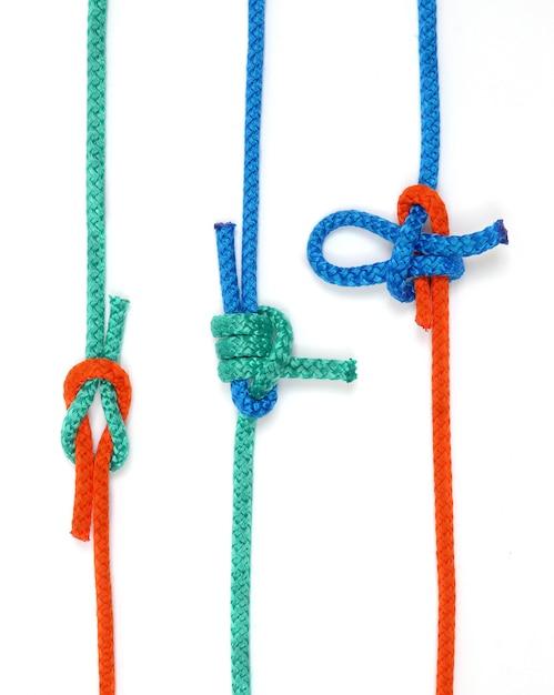 Węzeł Z Kolorowymi Linami Premium Zdjęcia