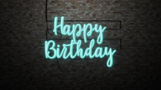 Wiadomość Z Okazji Urodzin Na Ceglany Mur Premium Zdjęcia