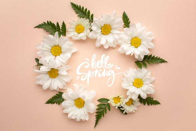 Wianek Z Kwiatów Witam Wiosnę Darmowe Zdjęcia