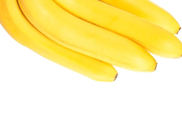 Wiązka Banany Odizolowywający Na Białym Tle Premium Zdjęcia