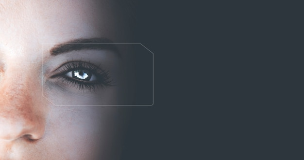 Wibrujące Niebieskie Oczy Premium Zdjęcia