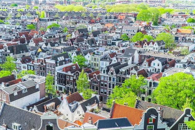 Widok Domów W Amsterdamie Premium Zdjęcia