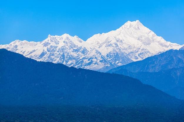 Widok Kangchenjunga, Gangtok Premium Zdjęcia