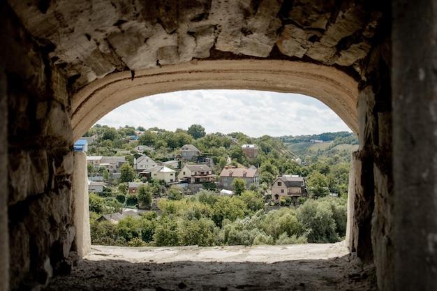Widok Krajobrazu Starożytnego Miasta Premium Zdjęcia