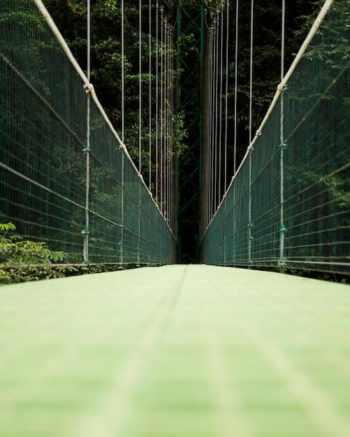 Widok most wiszący nad lasem deszczowym kostaryki Darmowe Zdjęcia