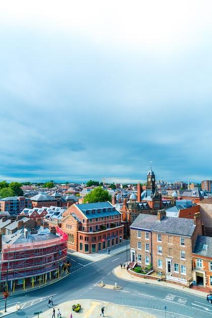 Widok Na Miasto York W Anglii Premium Zdjęcia