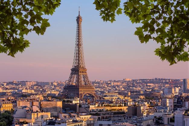 Widok na paryż we francji Premium Zdjęcia