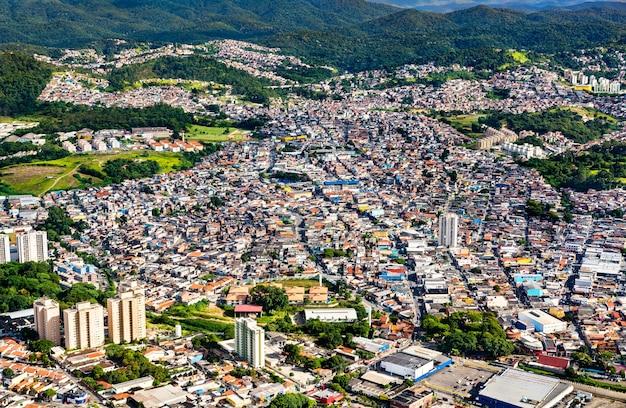 Widok Na Przedmieścia Sao Paulo W Brazylii Premium Zdjęcia