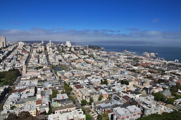 Widok Na San Francisco, Zachodnie Wybrzeże Stanów Zjednoczonych Premium Zdjęcia