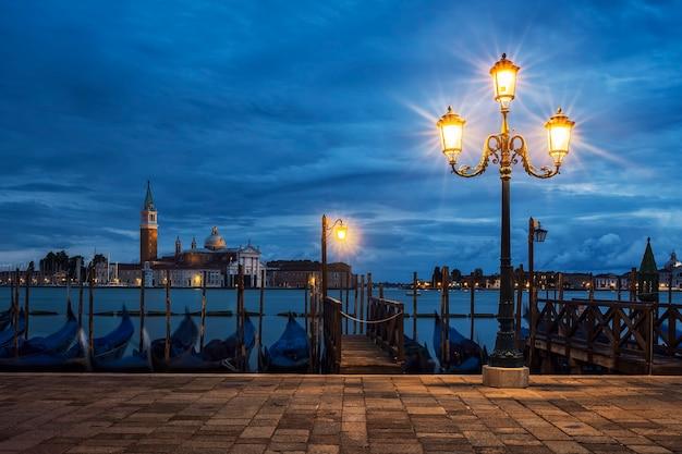Widok Na San Giorgio Maggiore Z Wenecji Nocą, Włochy. Darmowe Zdjęcia