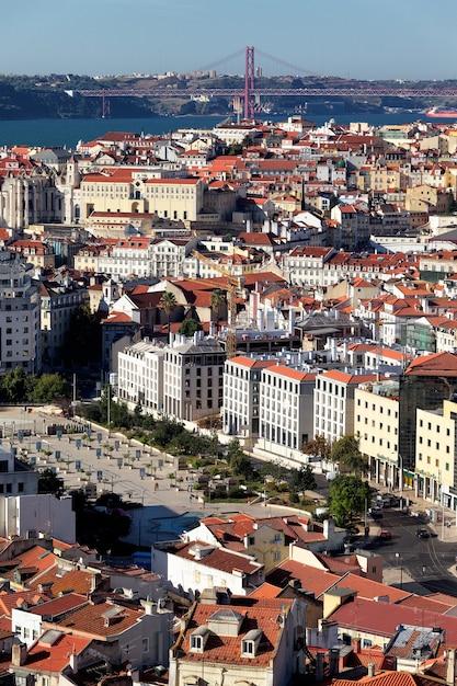 Widok Pionowy Lizbony, Portugalia Darmowe Zdjęcia